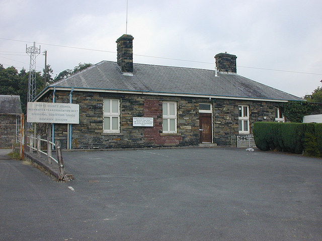 Rhayader station building, approach side