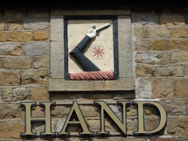 Hand & Dagger north of Salwick Station, Stone