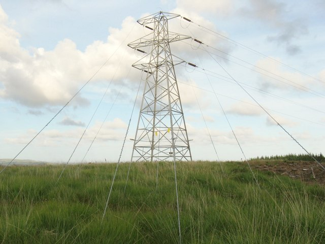 End of a high tension line