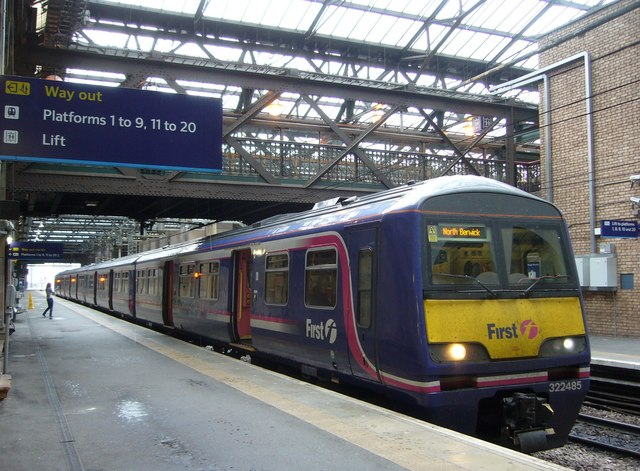 North Berwick train at Waverley Station