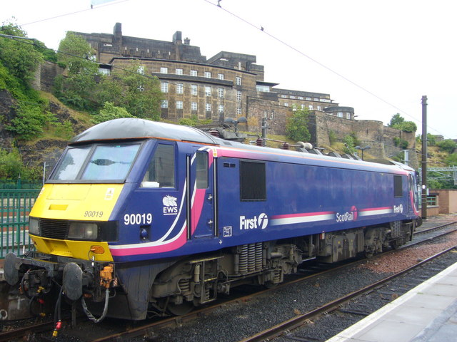 Electric locomotive at Waverley Station