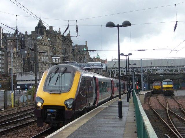 Bristol-bound train at Waverley Station