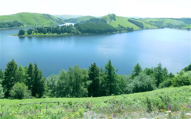 Panorama section of Llyn Clywedog