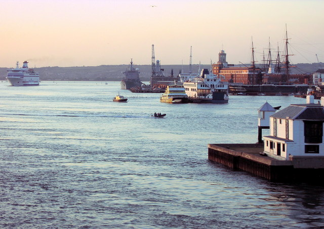 Portsmouth Harbour at sunset 06/09