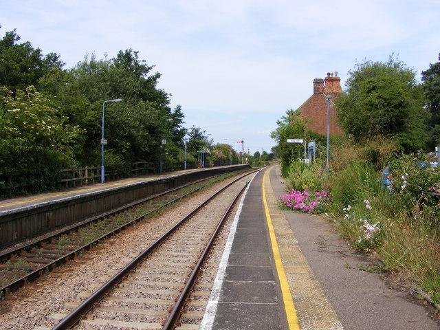 Somerleyton Station looking towards Haddiscoe