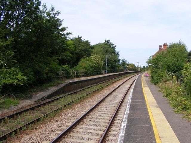 Norwich bound platform at Somerleyton Station