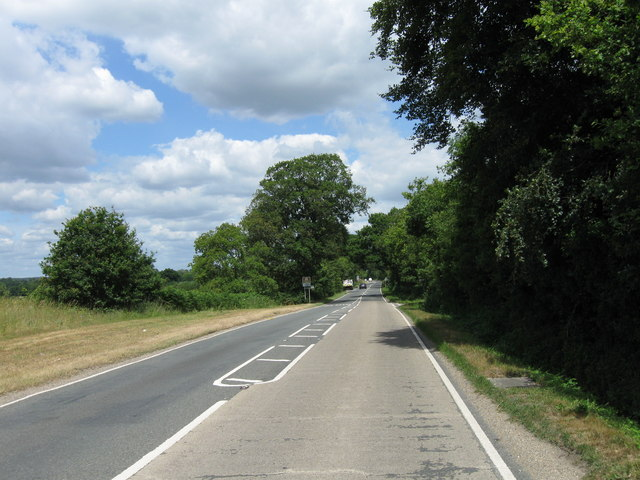 A3057 NNW from junction with Toothill Road