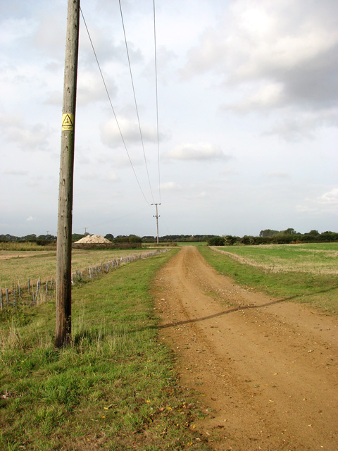 Unmade farm road west of the A149