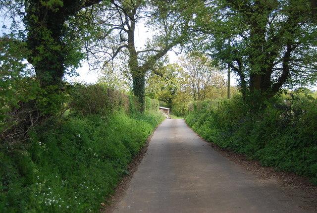 Farm track from Lindfield Farm