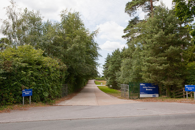 Entrance to Hillier Nurseries Brentry