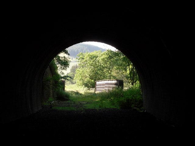 Inside Bowshank Tunnel looking towards the Bowshank Railway Bridge