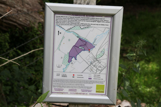 Calceby Marsh Site information board