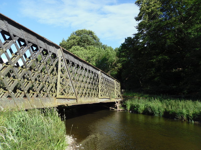The Bowshank Railway Bridge and the Gala Water