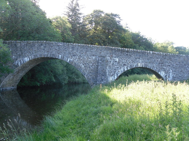 Looking West up the Gala Water to Bow Bridge