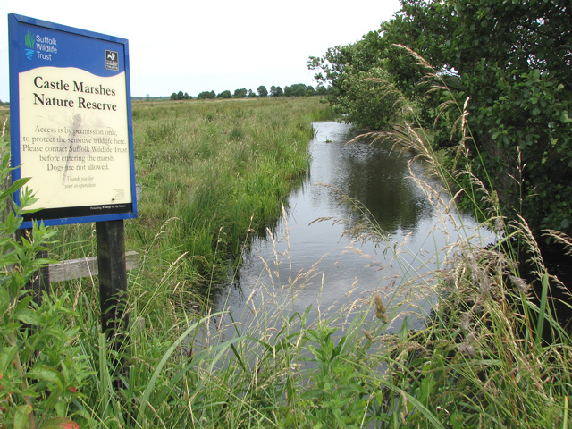 Drainage ditch in Castle Marsh