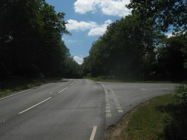 Road junction on A264 Holtye Road