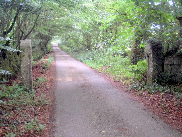 Old gateway next to Trevales Wood