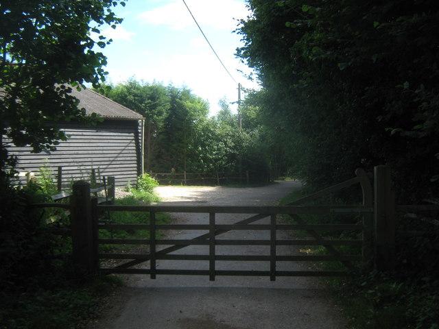 Gate into Woodlands Farm