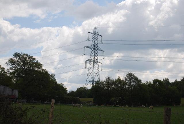 Electricity pylon near Warr's Farm