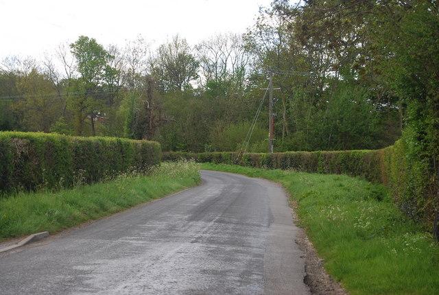 Blackbrook Lane heading south