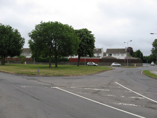 Road junction in Michaelston-super-Ely