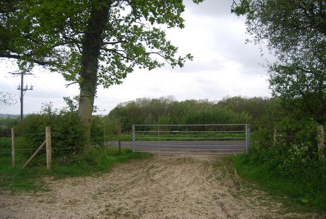 Gate onto Treemans Rd