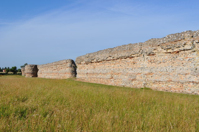 Burgh Castle Walls