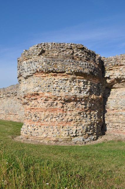 Bastion at Burgh Castle