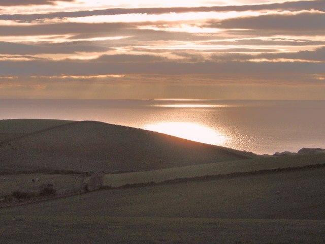 Glen Hill in the sunset