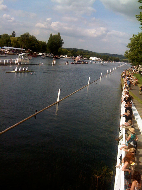 Rowing on the Thames near Henley