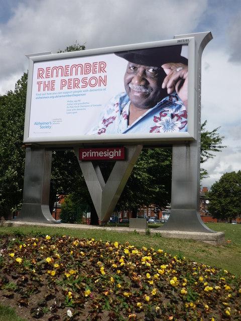Advertising hoarding, Cheetham Hill, Manchester