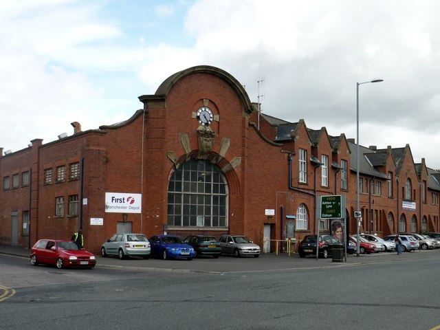 Bus depot, Cheetham Hill, Manchester