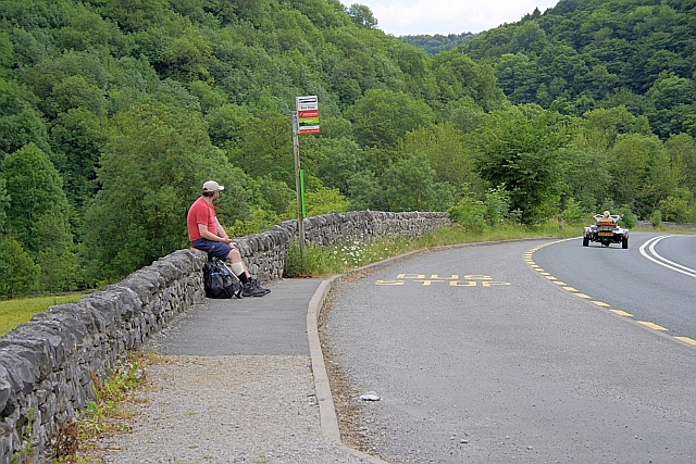 Bus Stop at Lees Bottom on the A6