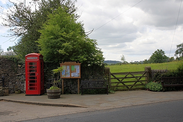Telephone Box and Village Information Board, Little Longstone