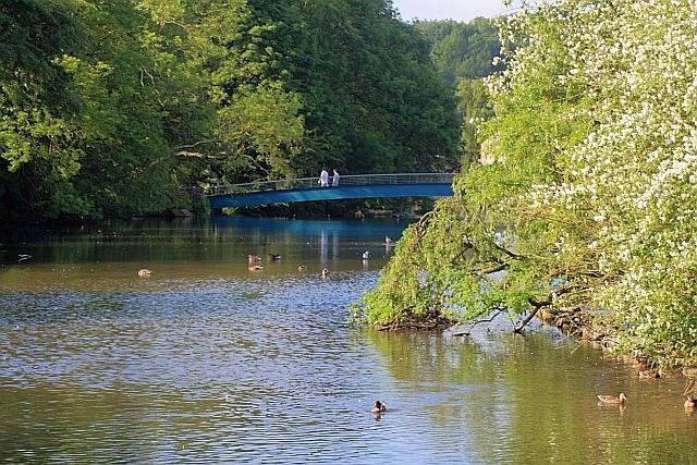 Footbridge over the Wye