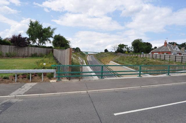 Bridge over A165 bypass as Osgodby