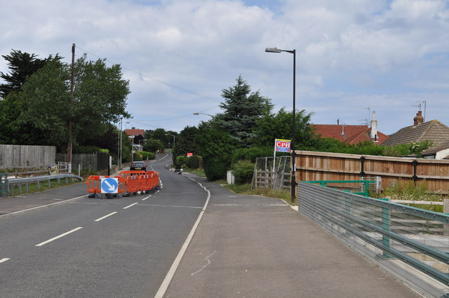 Looking across the bridge over the A165 bypass as Osgodby