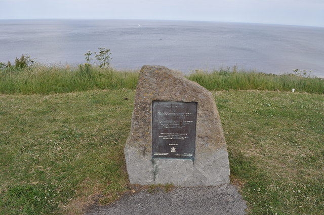 Monument to commemorate the completion of new sea defences in June 1993