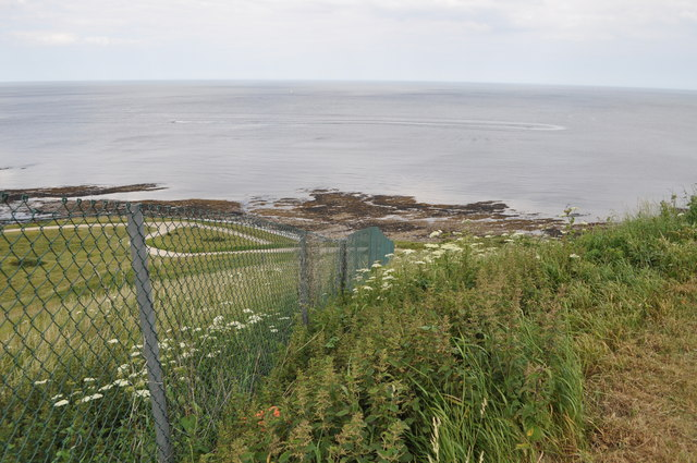 Looking down to the sea from the site of the Holbeck Hall hotel