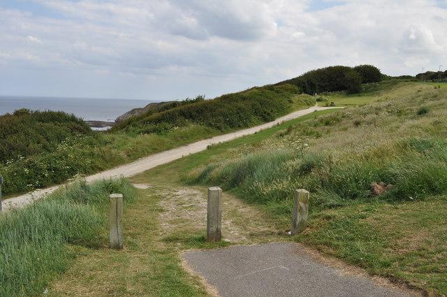 Coastal path at sea Cliff Road, Scarborough