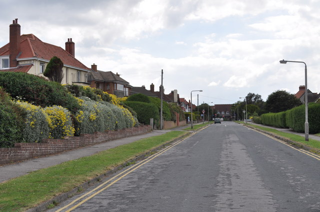 Looking up Wheatcroft Avenue