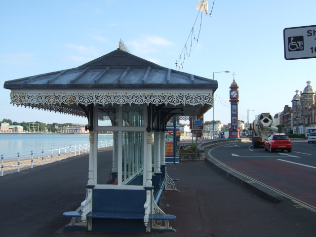 Ornate shelter on the front at Weymouth