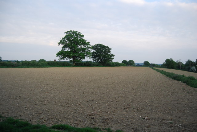 Ploughed field north of Charcott Farm