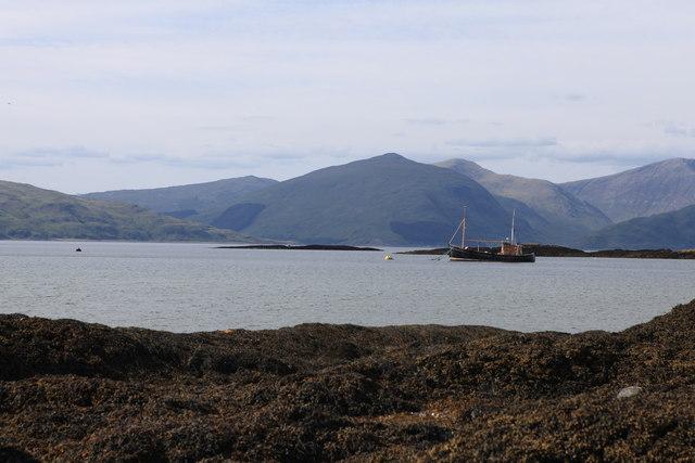 View towards Eilean Ramsay, Lismore