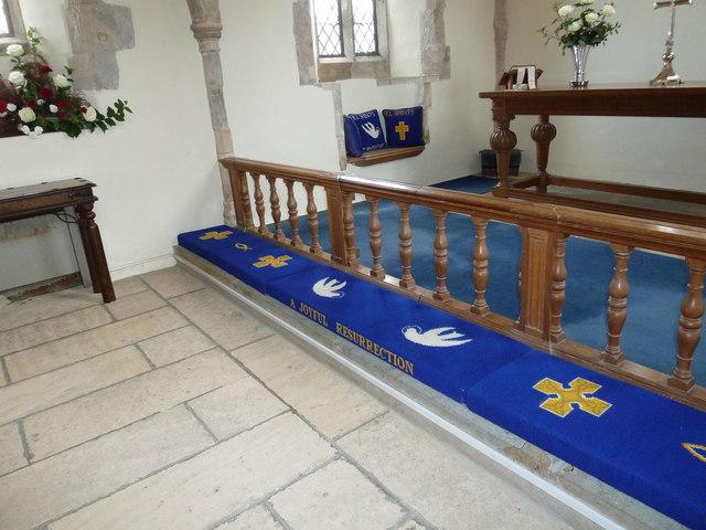 All Saints, Dibden- communion rail