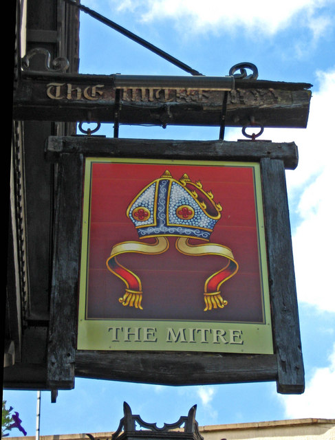 The Mitre (pub sign), Lower High Street