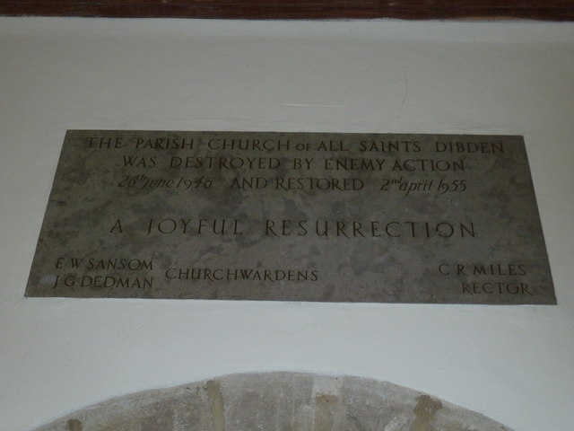 All Saints, Dibden- inscription above the south door