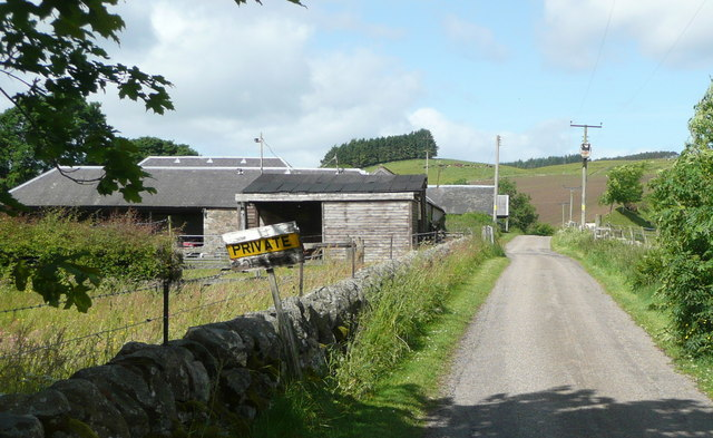 Private road to Little Kilry