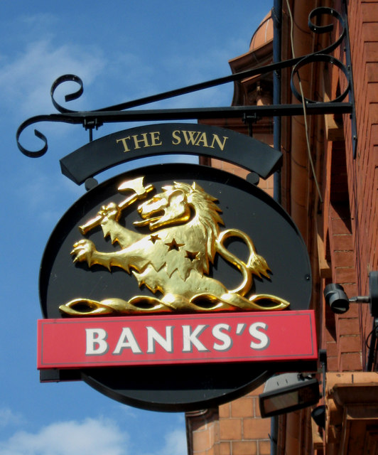 The Swan (pub sign), 5 Hagley Road