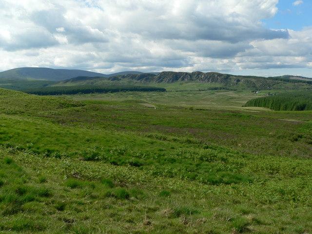 Distant view of Dromore cliffs